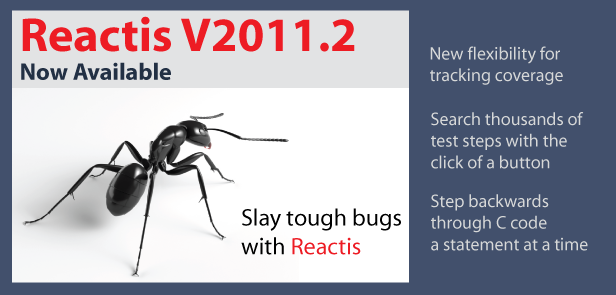 Reactis V2011.2 Now Available