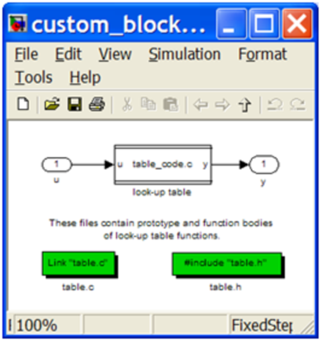 Screenshot of Custom Code block.