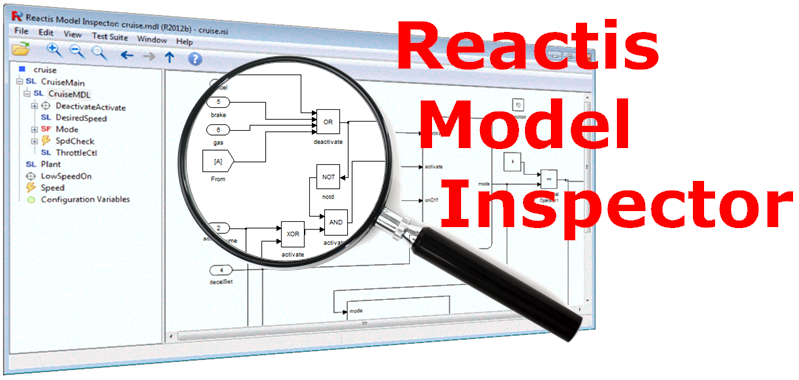 Reactis Model Inspector is a Simulink viewer that lets you           read .mdl files created by Simulink and testing artifacts           created by Reactis.